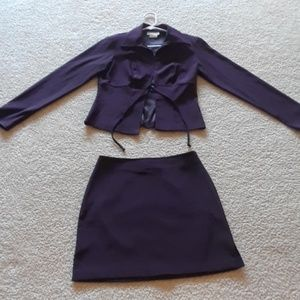 Very pretty deep purple dress jacket & skirt